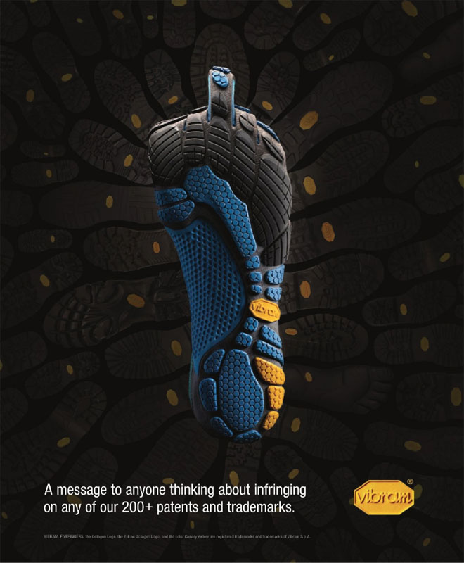 Vibram Five Fingers Anti-Counterfeit Trade Ad | Adventure Journal