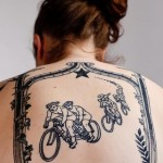 bike back tattoo