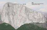 Dawn Wall route on El Capitan in Yosemite. Image from NationalGeographic.com used by permission.