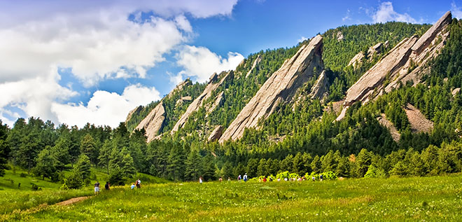 That would be the Flatirons.