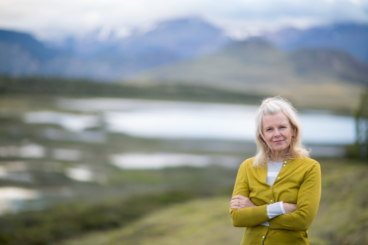 Kris Tompkins in Valle Chacabuco -  in Parque Patagonia, Chile.
