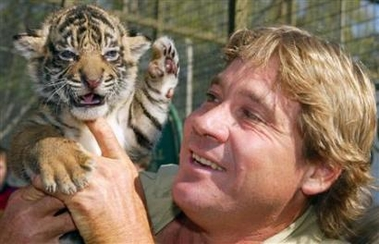 steve irwin photo by flickr user michelle, the other way