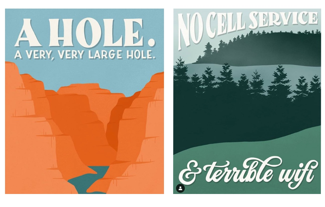 Finally A Satirical Poster Series Of Bad National Park Reviews